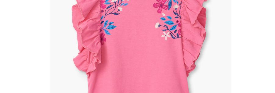 Hatley - Summer Blooms Ruffle Tee