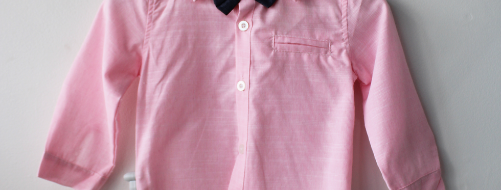 Sweet Pea - Bow Tie Button Up Shirt