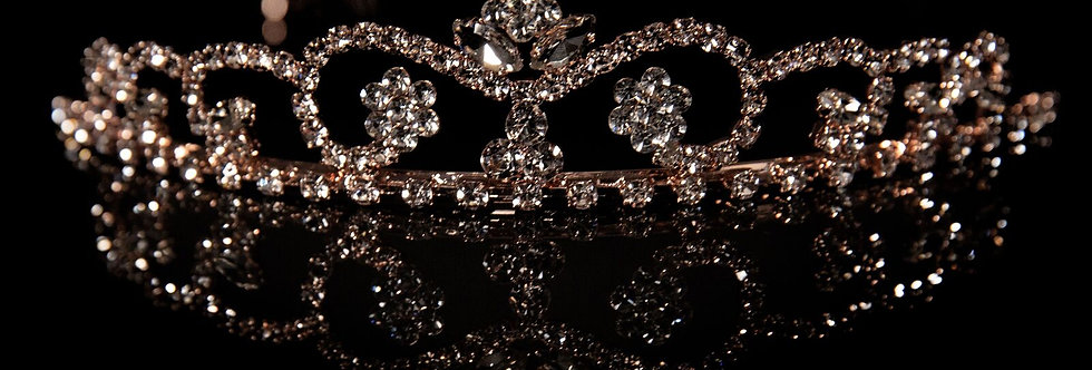 Mad Ally -  Large Willow Tiara Rose Gold