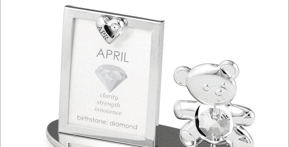 April Birthstone Birthday Picture Frame