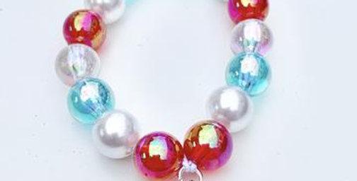 Sweet As Sugar - Beaded Bracelet Matching Christmas SnowFlake Necklace