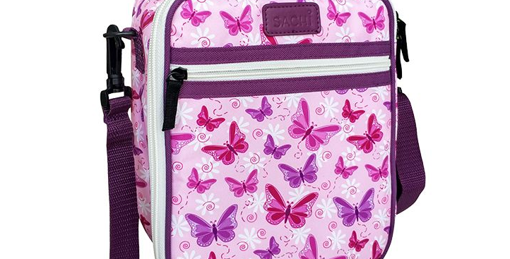 Sachi - Insulated Junior Butterflies Lunch Tote Bag