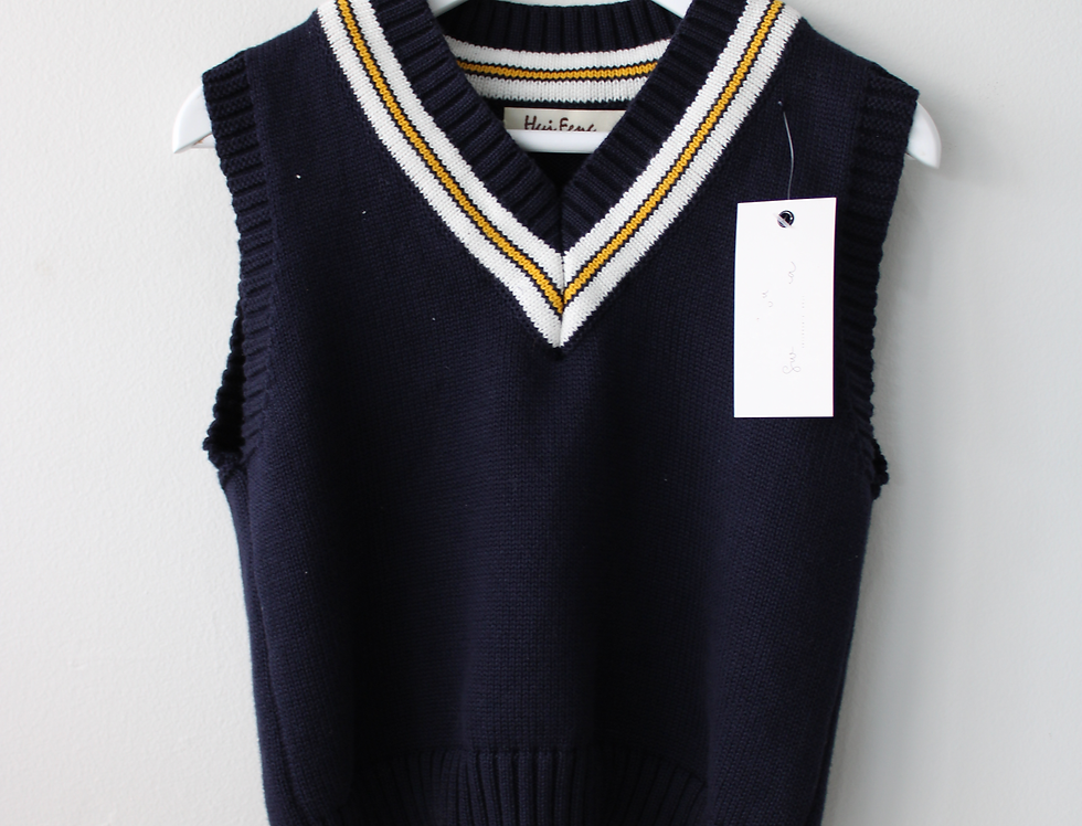 Sweet Pea - Navy Blue Pullover Vest