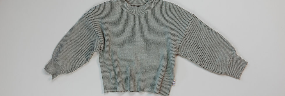 Halo & Horns - Rib Knit Sweater   Sage