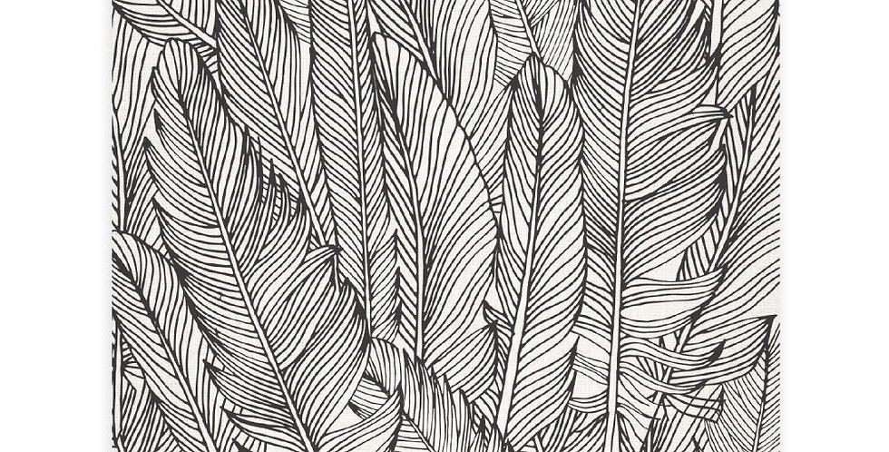 Splosh - Tranquil Feather Pattern Ceramic Coaster