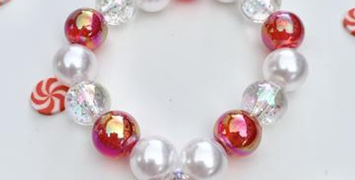 Sweet As Sugar - Beaded Bracelet Matching Christmas Candy Beaded Bracelet