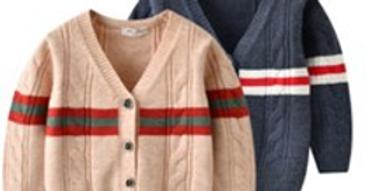 Sweet Pea - Striped Cashmere Cardigan