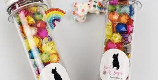 Sweet As Sugar Jewellery - Unicorn Test Tubes DIY Kit