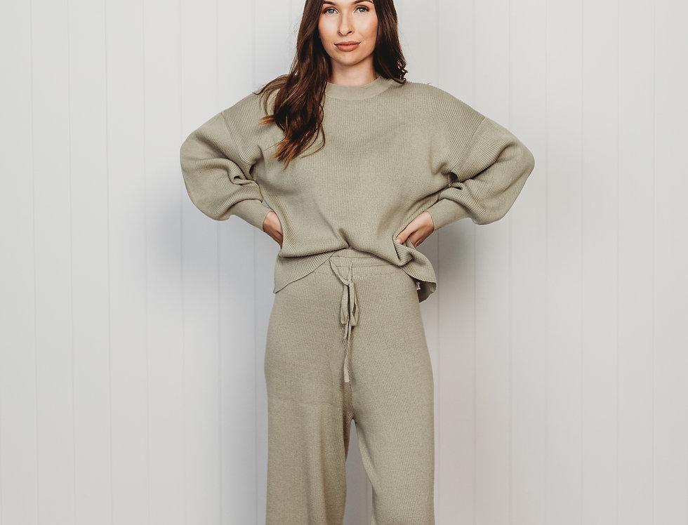 Halo & Horns - Woman | Organic Rib Knit Sweater - Sage