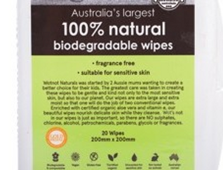 WotNot -  Travel Wipes With Travel Case 100% Biodegradable