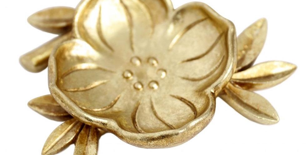 Splosh - Flourish Gold Leaf Trinket Plate