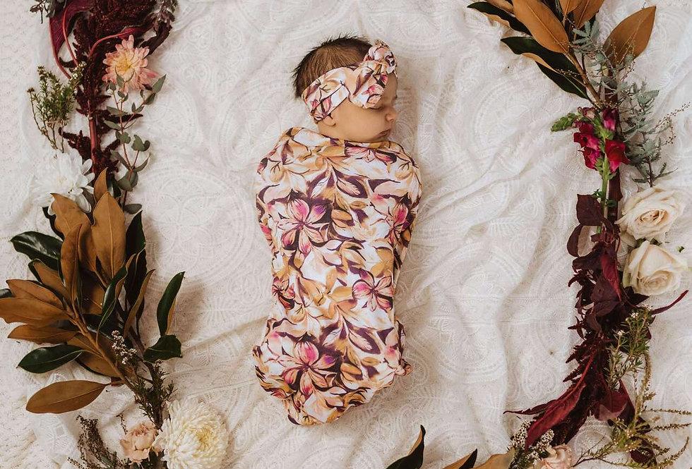 Snuggle Hunny - Leilani Snuggle Swaddle & Topknot Set