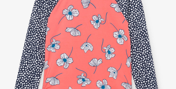 Hatley - Delicate Flowers Long Sleeve Rashguard
