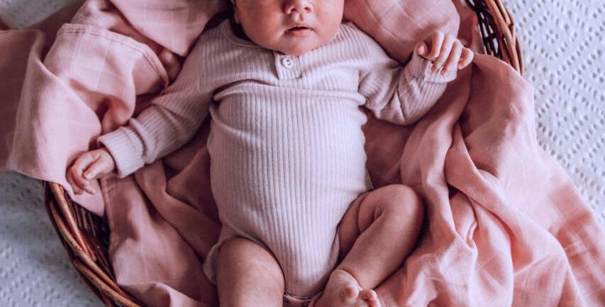 Snuggle Hunny - Musk Pink I Organic Muslin Wrap