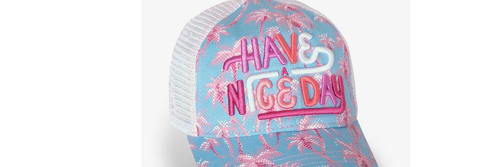 Hatley - Pink Palms Baseball Cap
