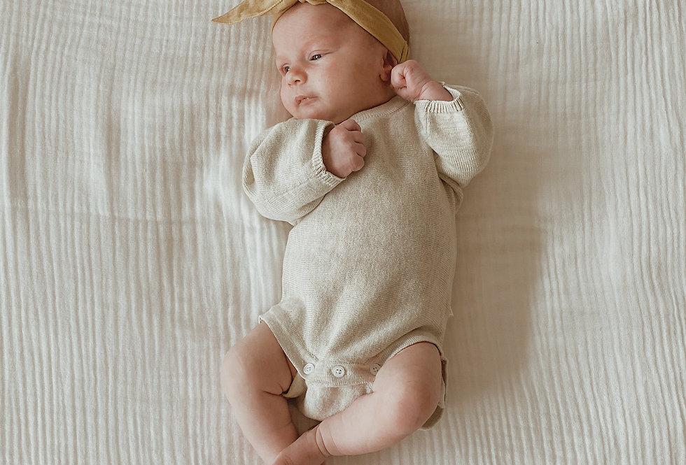 Pop Ya Tot - Knitted Bodysuit | Off White