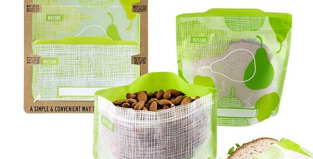Russbe - Snack/Sandwich Bags - Pear Linen