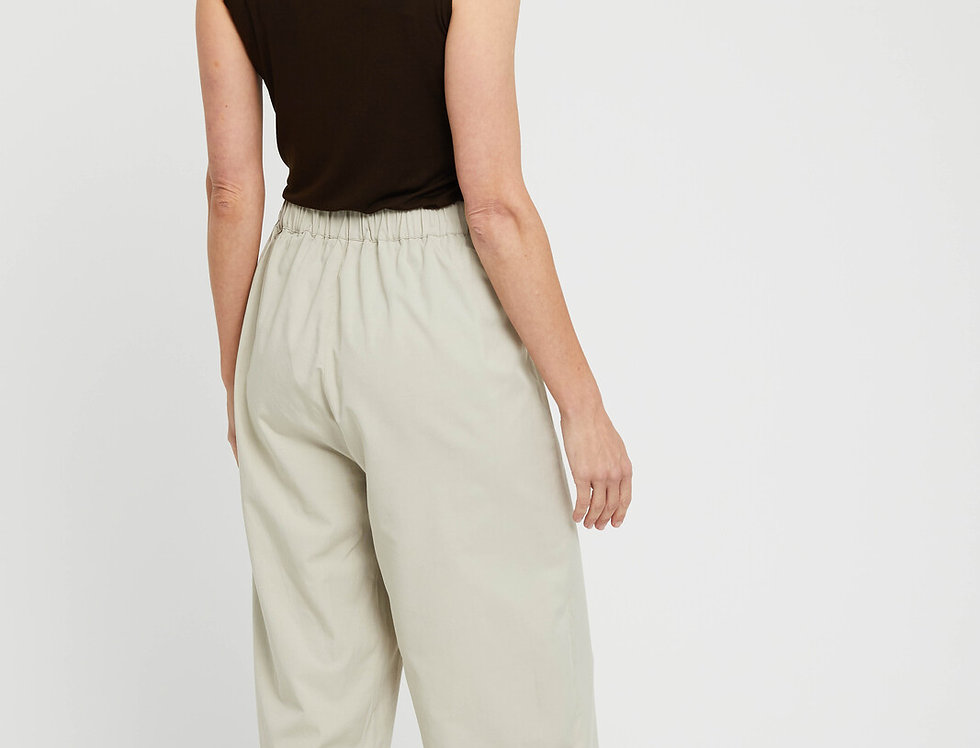 Bamboo Body - Woven Wide Leg Pant - Bone