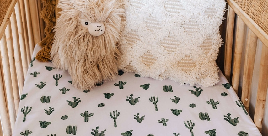 Snuggle Hunny - Cactus | Fitted Cot Sheet
