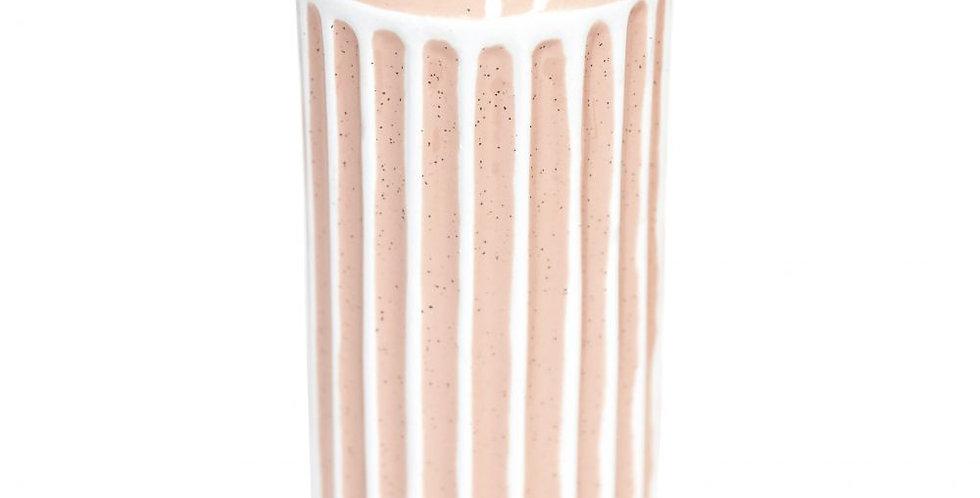 Splosh - Flourish Peach Stripe Vase