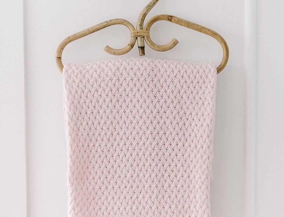 Snuggle Hunny - Blush Pink Diamond Knit Baby Blanket