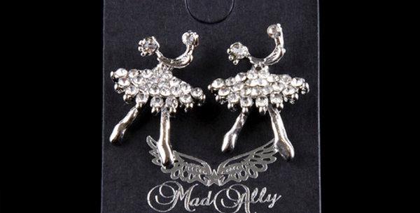 Mad Ally - Diamante Ballerina Earrings