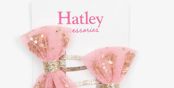 Hatley - Shining Stars Bow Snap Clips