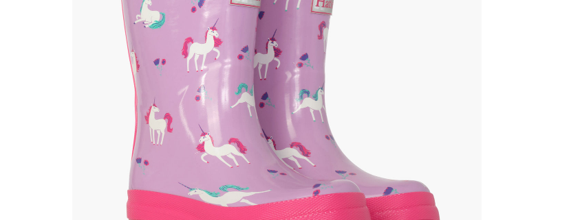 Hatley - Playful Unicorns Shiny Rain Boots