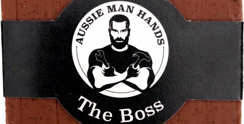 Aussie Man Hands - The Boss | Exfoliating Natural Soap Bar 100GS