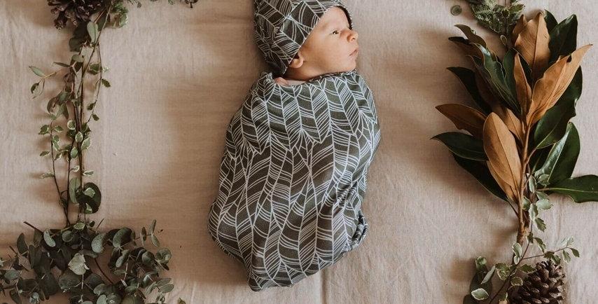 Snuggle Hunny - Tribal Snuggle Swaddle & Beanie Set