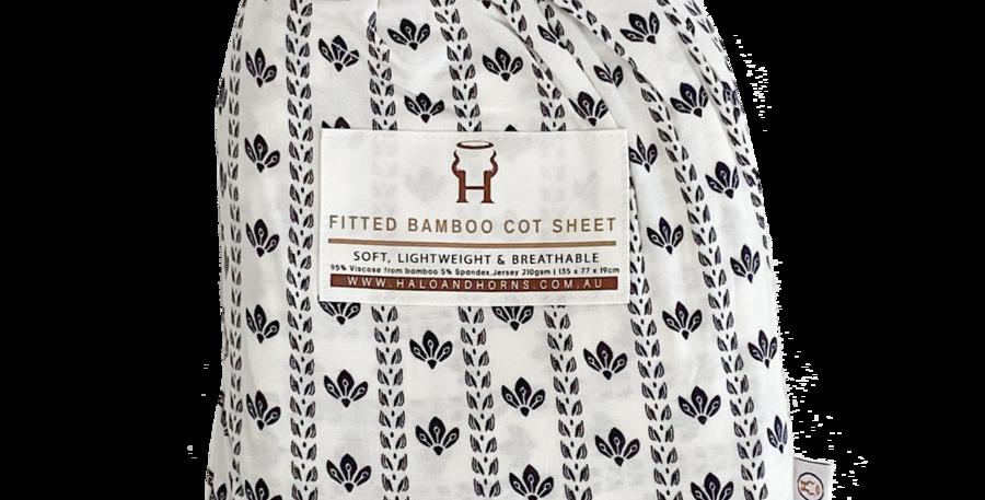 Halo & Horns - Cot Sheet | Ombre Leaf