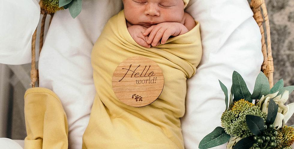 Snuggle Hunny - Gelato Baby Jersey Wrap & Beanie Set
