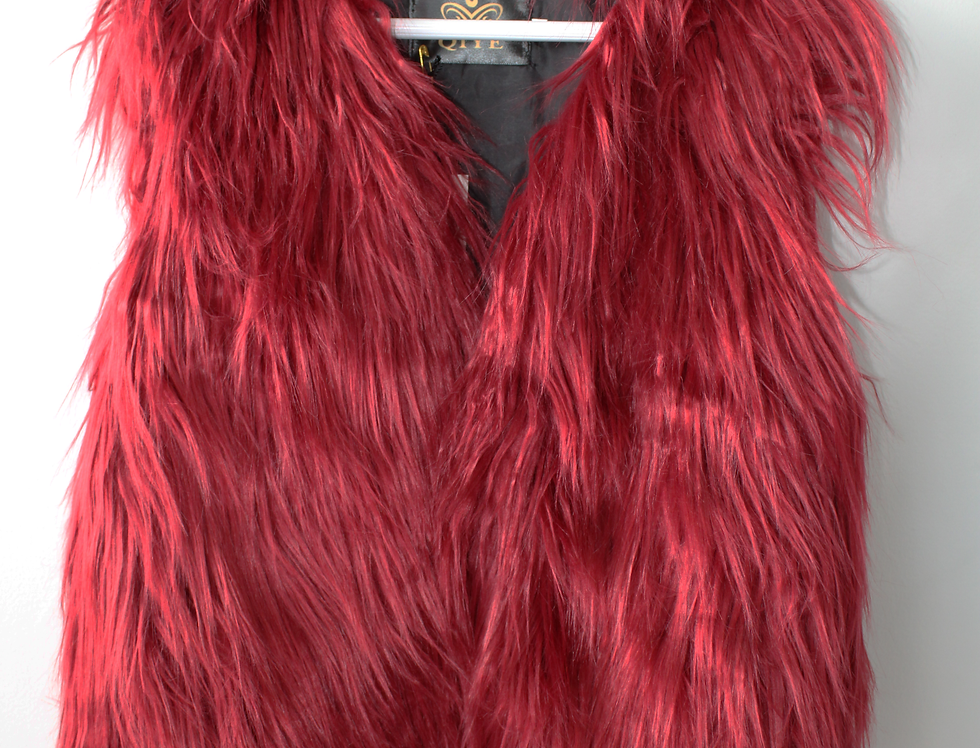 Sweet Pea - Red Fur Vest
