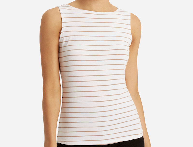 Bamboo Body - Shell Top Sale Cinnamon Stripe