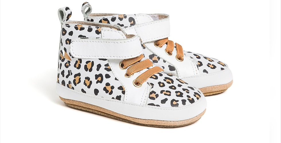 Pretty Brave  - HI-TOP White Leopard