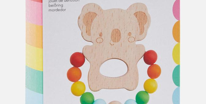 Tiger Tribe - Wooden Silicone Teether - Koala