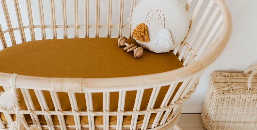 Snuggle Hunny -  Bronze Bassinet Sheet Change Pad Cover