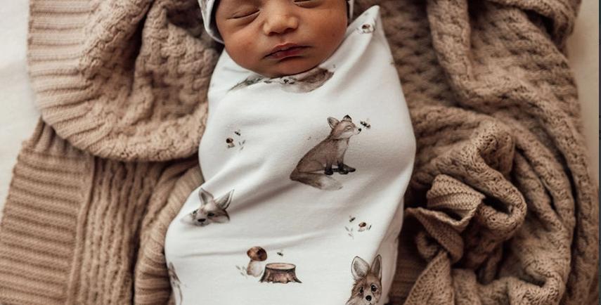 Snuggle Hunny - Fox | Snuggle Swaddle & Beanie Set