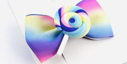 Sweet As Sugar - Lollipop Bow Hair Clip