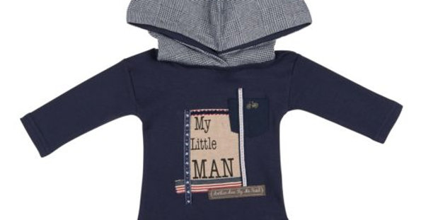 Arthur & Ave -  Navy Blue Little Mans Onesie