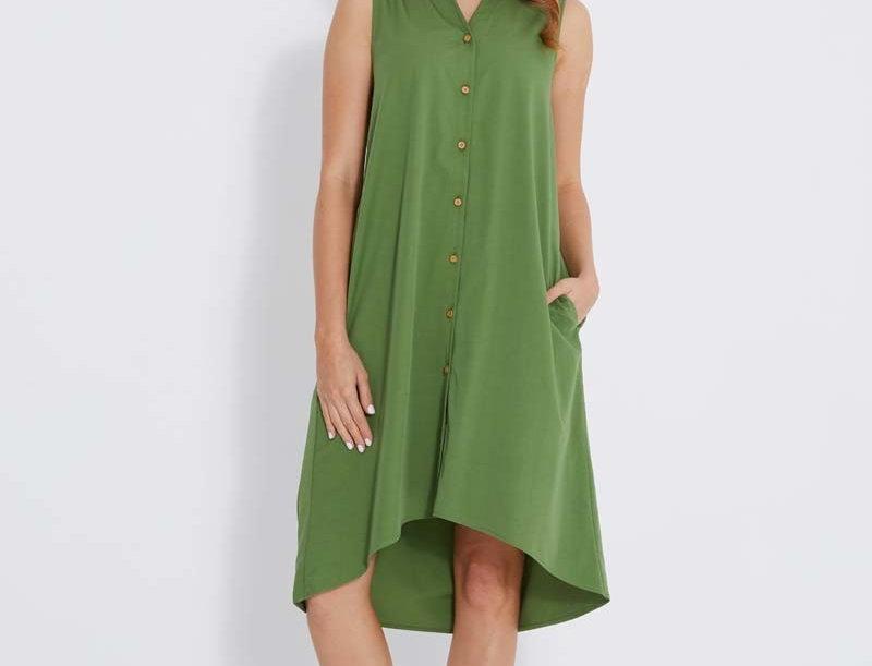 Bamboo Body - Woven Button Dress