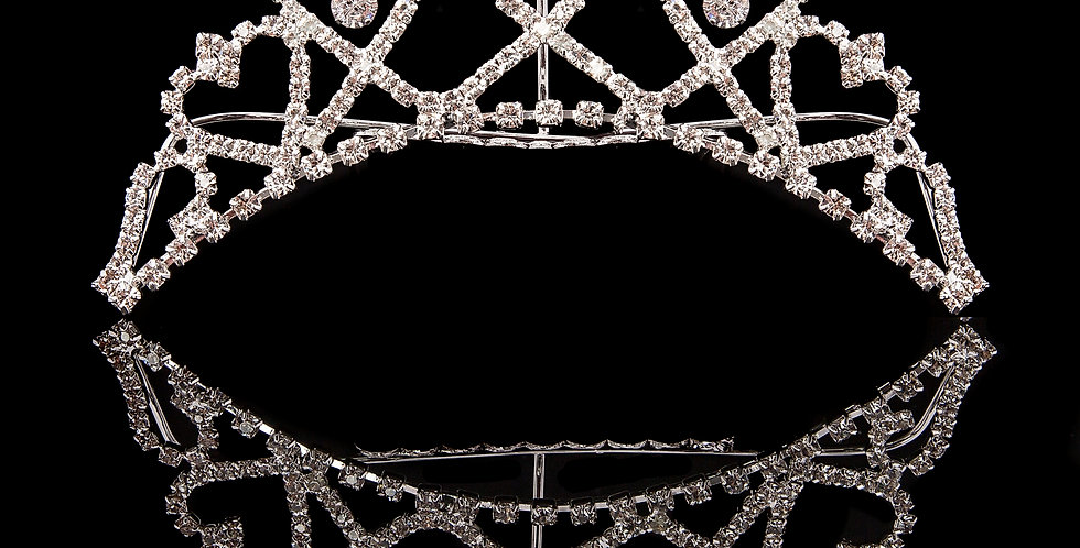 Mad Ally - Medium Heart Tiara Silver