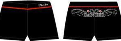 Mad Ally - Dance Shorts Black/Red