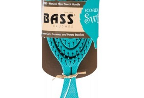 Bass Brushes - Bio Flex Detangler Hair Brush Teal Made From Natural Plant Startc