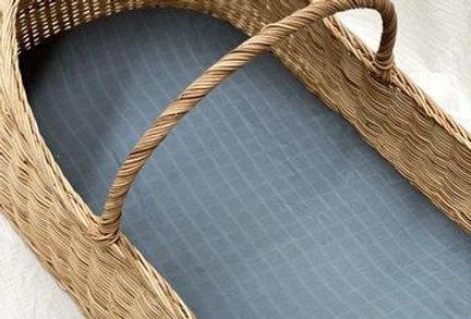 Pop Ya Tot - French Blue Muslin Sheets