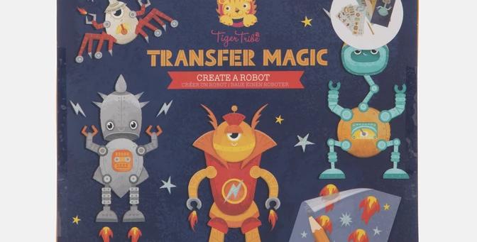 Tiger Tribe - Transfer Magic Create a Robot