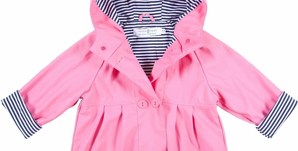 French Soda - Girls Raincoat Pink
