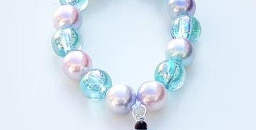 Sweet As Sugar - Beaded Bracelet Matching Ice Cream Beaded Necklace