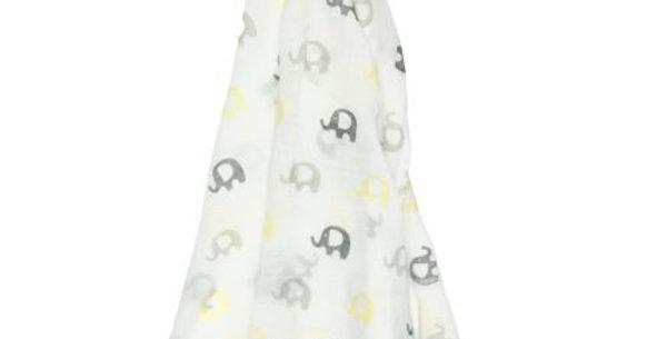 Es Kids - Muslin Wrap Yellow Grey Elephant