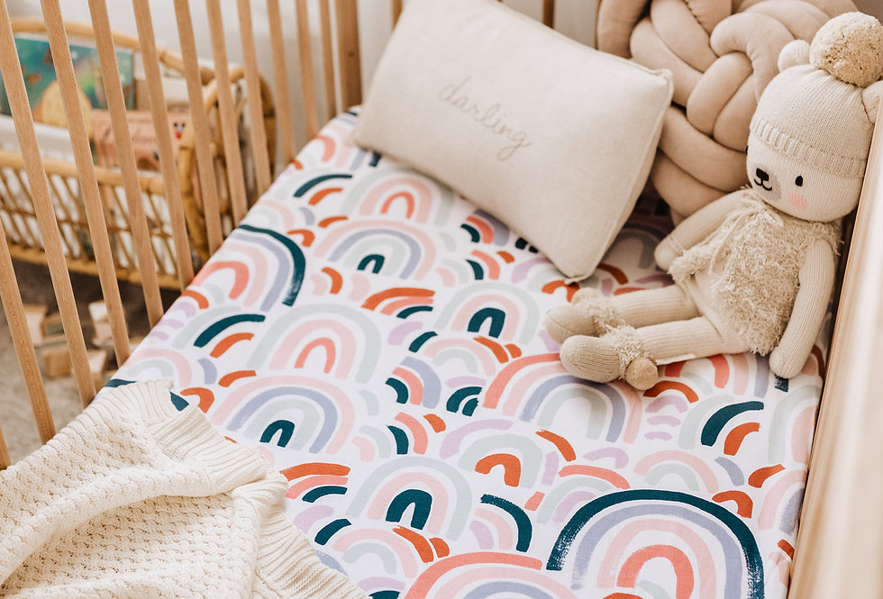 Snuggle Hunny - Rainbow Baby Fitted Cot Sheet